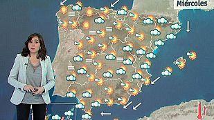 Ascenso de temperaturas en la península y lluvias fuertes en Canarias