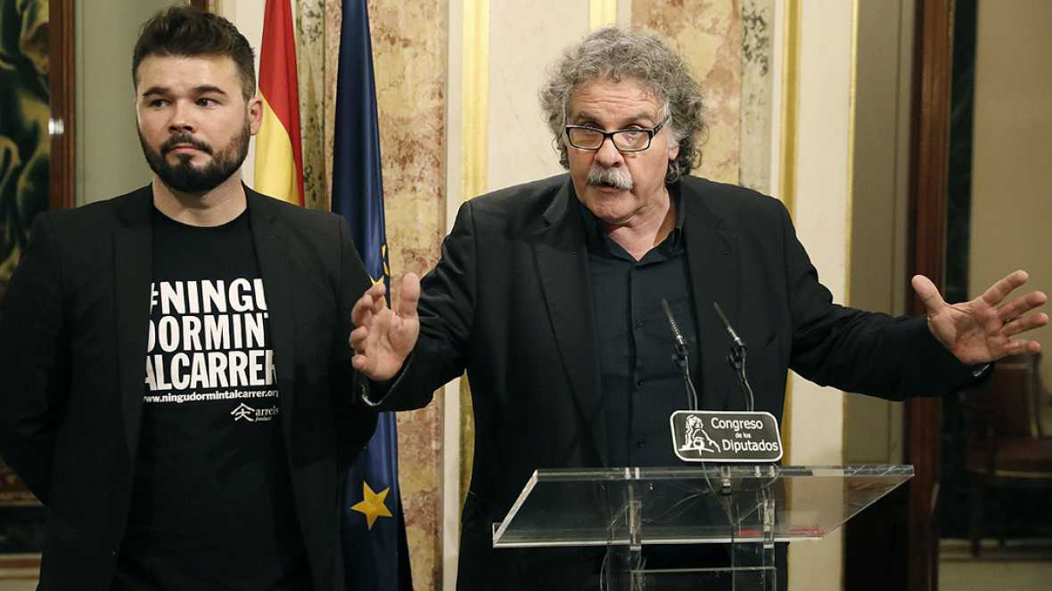 """ERC equipara el discurso de investidura de Rajoy con """"los hijos del franquismo"""""""