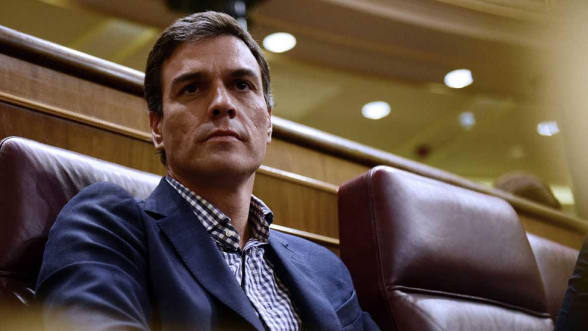 """Sánchez votará """"no"""" a Rajoy este jueves y no desvela qué hará el sábado, que """"será otro día"""""""