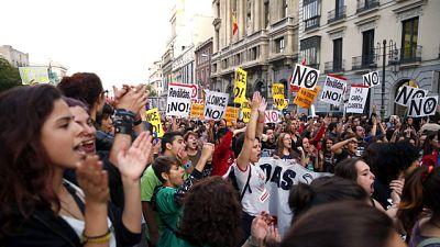Estudiantes de ESO y Bachillerato se manifiestan contra las reválidas y la LOMCE