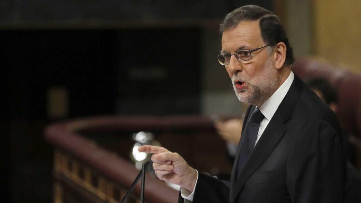 """En su réplica a Antonio Hernando, el candidato a la reelección por el PP, Mariano Rajoy, ha reconocido la decisión de abstención de los socialistas que hará posible su nuevo Ejecutivo como """"sensata y razonable"""" -como viene haciendo en estos últimos d"""