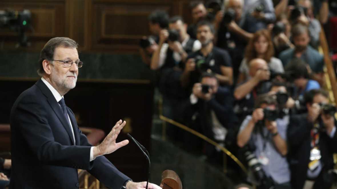 """Rajoy llama a que el voto a favor de su investidura sirva para un gobierno que """"pueda gobernar"""""""