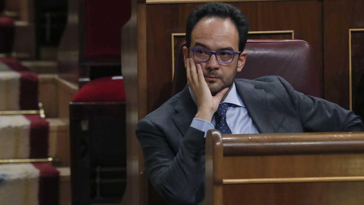 """Debate de investidura: Hernando avisa a Rajoy de que estará """"bajo estrecha vigilancia"""" del PSOE"""
