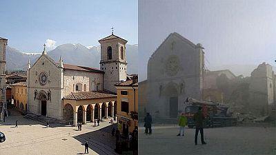 Un potente terremoto sacude de nuevo el centro de Italia y derrumba varias casas