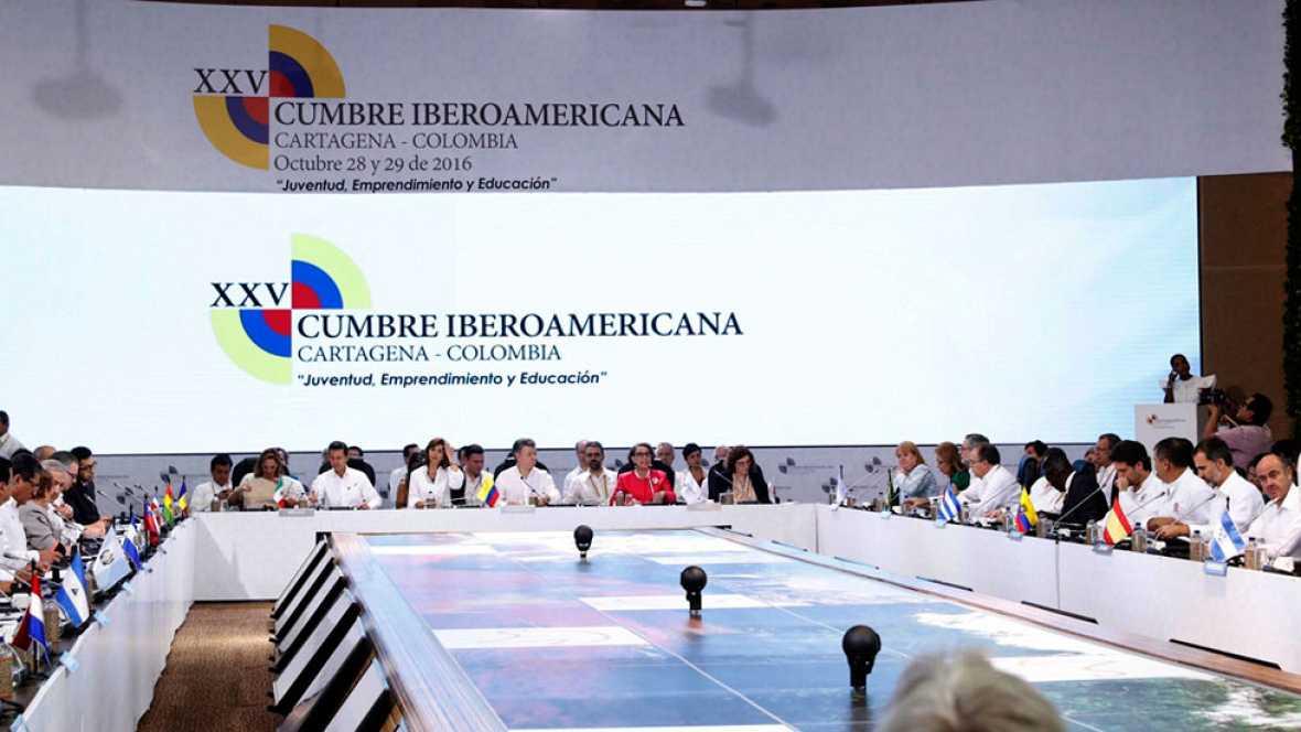 La cumbre iberoamericana respaldada el proceso de paz de Colombia