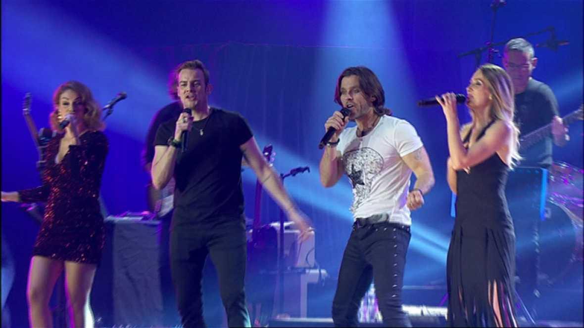 Fórmula Abierta canta 'Te quiero más' en el concierto de OT