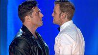 David Bustamante y Alex Casademunt cantan 'Por el amor de esa mujer' en el concierto de OT