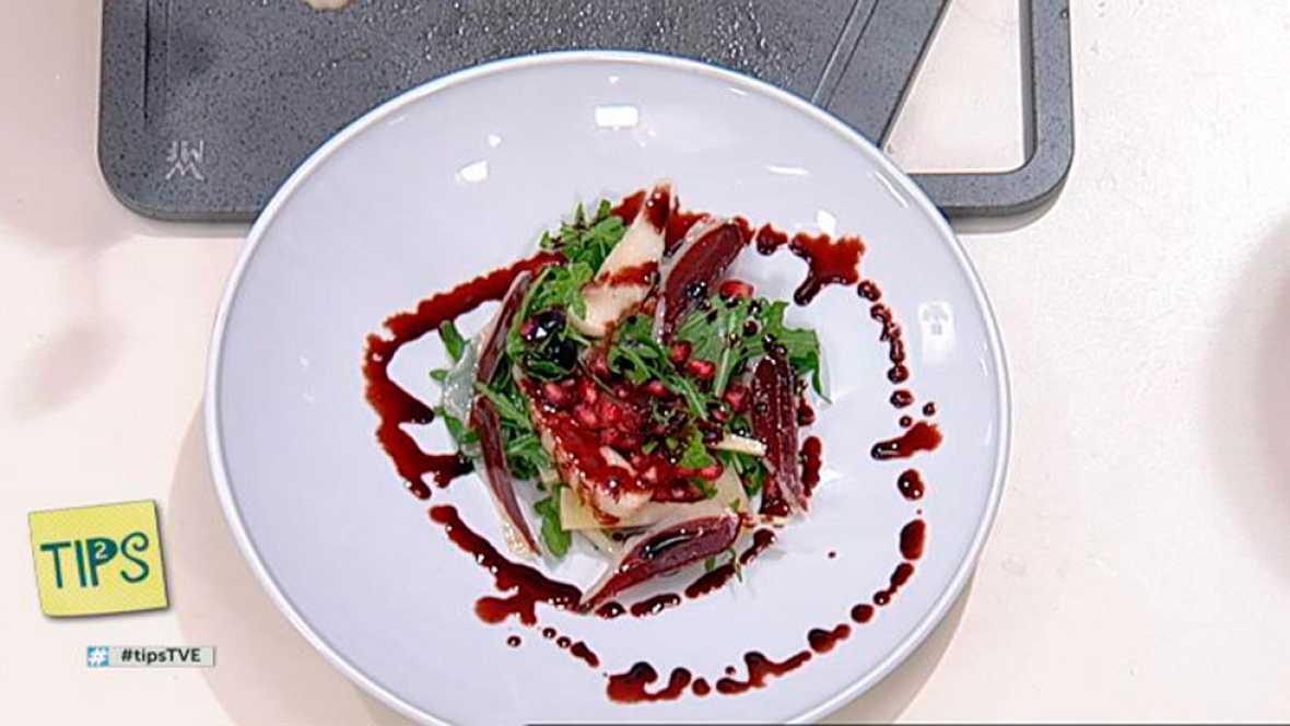 TIPS - Cocina - Ensalada de frutos rojos, pera y pato