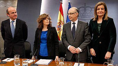 Guindos, Montoro y Báñez continúan en el núcleo económico del Gobierno de Rajoy