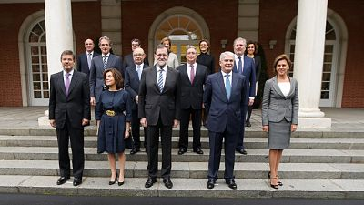 Los nuevos ministros del Gobierno de Mariano Rajoy juran su cargo ante el rey