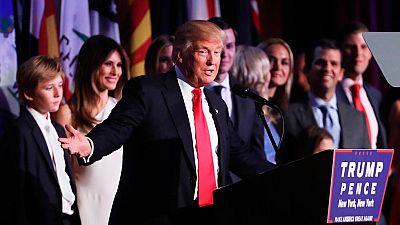 El primer discurso de Trump tiende la mano a todos para superar las adversidades