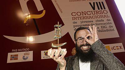 """Es el ganador del concurso de pinchos de Valladolid que ha competido con otros cuarenta y seis de toda España. Su nombre es """"Placer otoñal"""" y evoca las delicias de esta estación, las setas."""