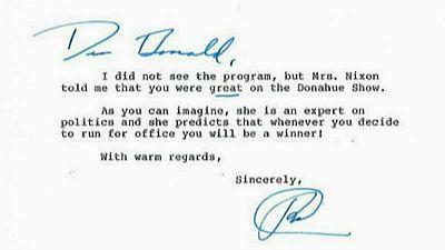 Nixon predijo la victoria de Trump hace 32 años