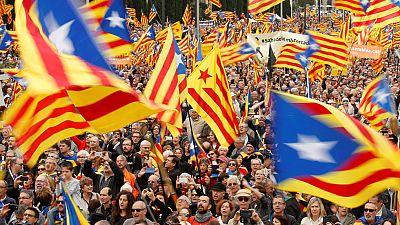 Manifestación en Barcelona para apoyar a los cargos separatistas