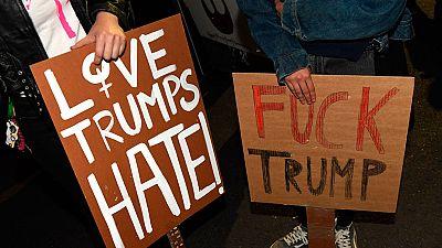 Miles de personas muestran su rechazo a Trump