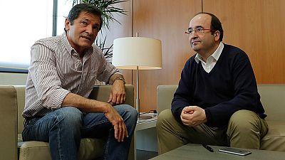 Fernández e Iceta acuerdan crear una comisión para abordar las discrepancias entre PSOE y PSC