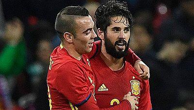 Aspas e Isco, felices por marcar en Wembley
