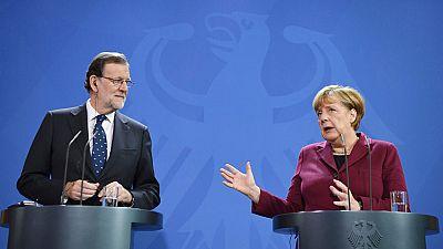 Merkel subraya ante Rajoy que España va 'por un senda positiva'