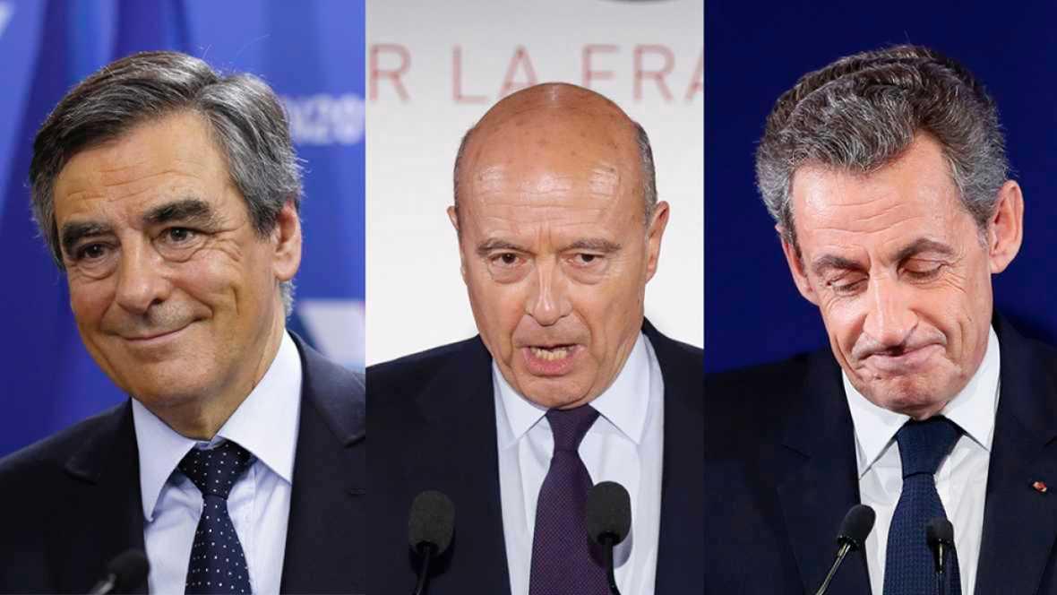 Resultado de imagen de Fillon y Juppé se disputarán en segunda vuelta el liderazgo conservador y Sarkozy se queda fuera