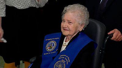 Licenciada en Químicas 75 años después de iniciar la carrera