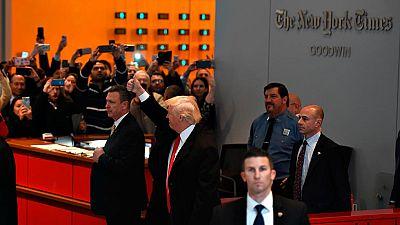 Trump visita The New York Times