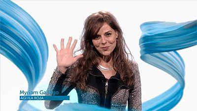 La actriz Miryam Gallego felicita a TVE en su 60º aniversario