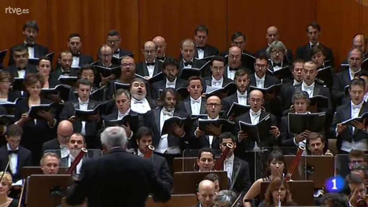 La Orquesta Sinfónica y Coro RTVE en el Telediario