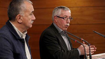 Los sindicatos anuncian movilizaciones y el Gobierno les pide que den una oportunidad a la negociación
