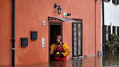 La lluvias torrenciales causan inundaciones en Córcega y el norte de Italia