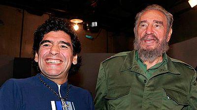 Fidel Castro, un segundo padre para Maradona