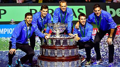 Argentina levanta su primera Copa Davis