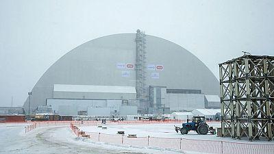 Un nuevo sárcofago cubre el reactor de Chernóbil 30 años después de la catástrofe nuclear