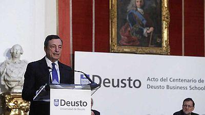Mario Draghi elogia las reformas de gobierno de Rajoy