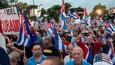 Exiliados cubanos exigen en Miami cambio en Cuba tras la muerte de Fidel