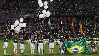 Chapecó y Medellín rinden tributo a las víctimas del accidente