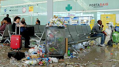 Cuarto día de huelga de limpieza en el Aeropuerto de Barcelona-El Prat