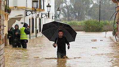 La provincia de Málaga, la más afectada por las intensas lluvias