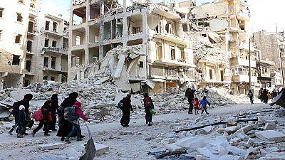 Decenas de muertos en los bombardeos al norte de Siria