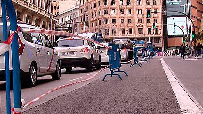 Primer día completo con restricciones de tráfico en el centro de Madrid