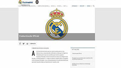 """El Real Madrid defiende la """"ejemplaridad"""" de Crisitiano Ronaldo"""