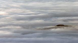 Nieblas en la meseta norte y el valle del Ebro