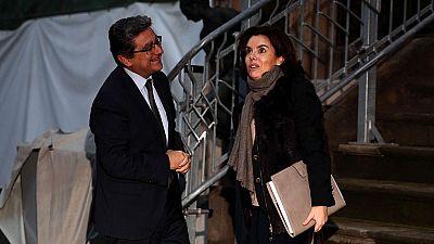 La vicepresidenta del Gobierno inicia en Barcelona su ronda de contactos con los líderes políticos catalanes