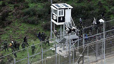 Salto masivo a la valla de Ceuta