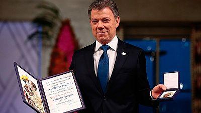 Juan Manuel Santos recibe el Premio Nobel de la Paz
