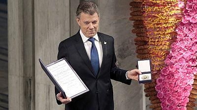 Santos recoge el Nobel de la Paz y lanza un mensaje de esperanza al mundo
