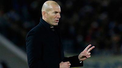 """El entrenador del Real Madrid, Zinedine Zidane, ha apuntado que el ritmo del partido fue """"raro"""" pero que al final consiguieron marcar después de """"hacer muchas ocasiones""""."""