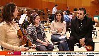 El Canal 24H conecta en directo con el acto del voluntariado de músicos de la Orquesta RTVE con niños invidentes
