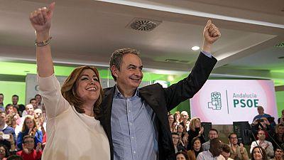 Zapatero apoya en Jaén a Susana Díaz en el décimo aniversario de la aprobación de la Ley de Dependencia