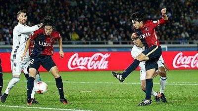 Shibasaki ha igualado la final antes del descanso con un gol de volea dentro del área que ha sorprendido a la defensa del Real Madrid.