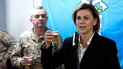 La ministra de Defensa visita a las tropas españolas en Irak